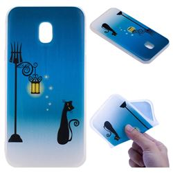 Street Light Cat 3D Relief Matte Soft TPU Back Cover for Samsung Galaxy J5 2017 J530 Eurasian