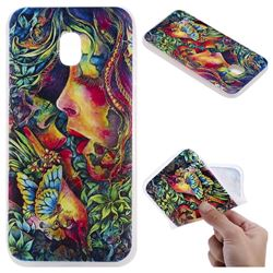 Butterfly Kiss 3D Relief Matte Soft TPU Back Cover for Samsung Galaxy J5 2017 J530 Eurasian