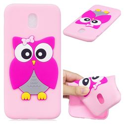 Pink Owl Soft 3D Silicone Case for Samsung Galaxy J5 2017 J530 Eurasian