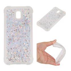 Dynamic Liquid Glitter Sand Quicksand Star TPU Case for Samsung Galaxy J5 2017 J530 Eurasian - Silver