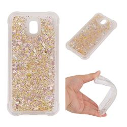 Dynamic Liquid Glitter Sand Quicksand Star TPU Case for Samsung Galaxy J5 2017 J530 Eurasian - Diamond Gold