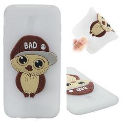 Bad Boy Owl Soft 3D Silicone Case for Samsung Galaxy J5 2017 J530 Eurasian - Translucent White