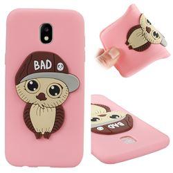 Bad Boy Owl Soft 3D Silicone Case for Samsung Galaxy J5 2017 J530 Eurasian - Pink