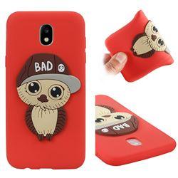 Bad Boy Owl Soft 3D Silicone Case for Samsung Galaxy J5 2017 J530 Eurasian - Red