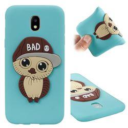 Bad Boy Owl Soft 3D Silicone Case for Samsung Galaxy J5 2017 J530 Eurasian - Sky Blue