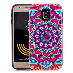 Datura Flowers Pattern 2 in 1 PC + TPU Glossy Embossed Back Cover for Samsung Galaxy J5 2017 J530 Eurasian