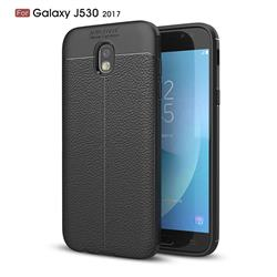 Luxury Auto Focus Litchi Texture Silicone TPU Back Cover for Samsung Galaxy J5 2017 J530 Eurasian - Black