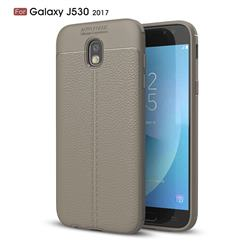 Luxury Auto Focus Litchi Texture Silicone TPU Back Cover for Samsung Galaxy J5 2017 J530 Eurasian - Gray