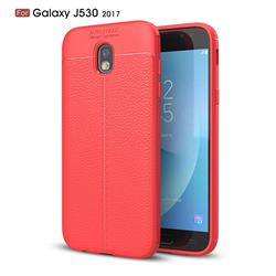 Luxury Auto Focus Litchi Texture Silicone TPU Back Cover for Samsung Galaxy J5 2017 J530 Eurasian - Red