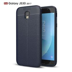 Luxury Auto Focus Litchi Texture Silicone TPU Back Cover for Samsung Galaxy J5 2017 J530 Eurasian - Dark Blue