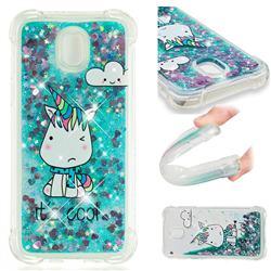 Tiny Unicorn Dynamic Liquid Glitter Sand Quicksand Star TPU Case for Samsung Galaxy J5 2017 J530 Eurasian