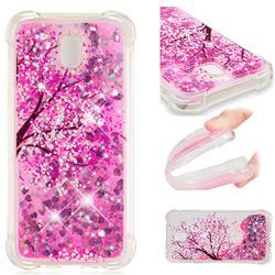 Pink Cherry Blossom Dynamic Liquid Glitter Sand Quicksand Star TPU Case for Samsung Galaxy J5 2017 J530 Eurasian