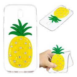 Yellow Pineapple Liquid Quicksand Soft 3D Cartoon Case for Samsung Galaxy J5 2017 J530 Eurasian
