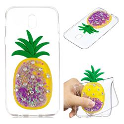Purple Pineapple Liquid Quicksand Soft 3D Cartoon Case for Samsung Galaxy J5 2017 J530 Eurasian