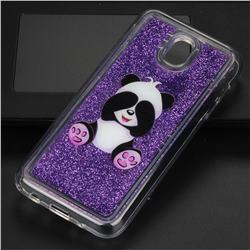 Naughty Panda Glassy Glitter Quicksand Dynamic Liquid Soft Phone Case for Samsung Galaxy J5 2017 J530 Eurasian