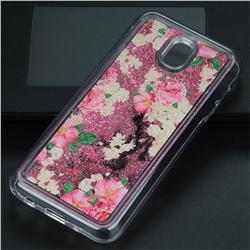 Rose Flower Glassy Glitter Quicksand Dynamic Liquid Soft Phone Case for Samsung Galaxy J5 2017 J530 Eurasian