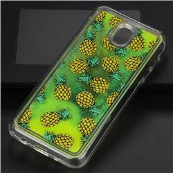 Pineapple Glassy Glitter Quicksand Dynamic Liquid Soft Phone Case for Samsung Galaxy J5 2017 J530 Eurasian