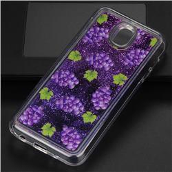 Purple Grape Glassy Glitter Quicksand Dynamic Liquid Soft Phone Case for Samsung Galaxy J5 2017 J530 Eurasian