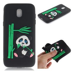 Panda Eating Bamboo Soft 3D Silicone Case for Samsung Galaxy J5 2017 J530 Eurasian - Black