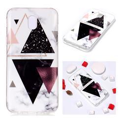 Four Triangular Soft TPU Marble Pattern Phone Case for Samsung Galaxy J5 2017 J530 Eurasian