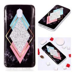 Black Diamond Soft TPU Marble Pattern Phone Case for Samsung Galaxy J5 2017 J530 Eurasian
