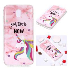 Unicorn Soft TPU Marble Pattern Phone Case for Samsung Galaxy J5 2017 J530 Eurasian