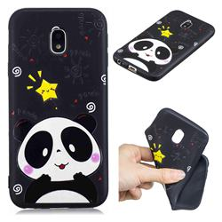 Cute Bear 3D Embossed Relief Black TPU Cell Phone Back Cover for Samsung Galaxy J5 2017 J530 Eurasian
