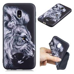 Lion 3D Embossed Relief Black TPU Cell Phone Back Cover for Samsung Galaxy J5 2017 J530 Eurasian