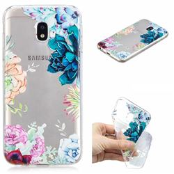 Gem Flower Clear Varnish Soft Phone Back Cover for Samsung Galaxy J5 2017 J530 Eurasian