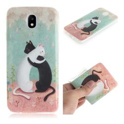 Black and White Cat IMD Soft TPU Cell Phone Back Cover for Samsung Galaxy J5 2017 J530 Eurasian