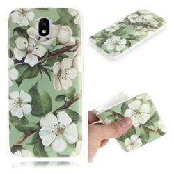 Watercolor Flower IMD Soft TPU Cell Phone Back Cover for Samsung Galaxy J5 2017 J530 Eurasian