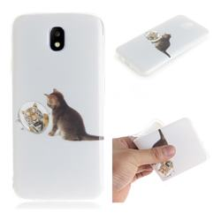 Cat and Tiger IMD Soft TPU Cell Phone Back Cover for Samsung Galaxy J5 2017 J530 Eurasian