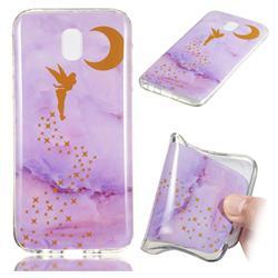 Elf Purple Soft TPU Marble Pattern Phone Case for Samsung Galaxy J5 2017 J530 Eurasian