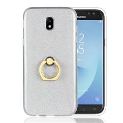 Luxury Soft TPU Glitter Back Ring Cover with 360 Rotate Finger Holder Buckle for Samsung Galaxy J5 2017 J530 Eurasian - White