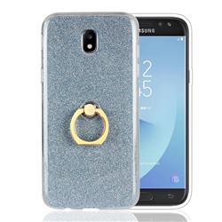 Luxury Soft TPU Glitter Back Ring Cover with 360 Rotate Finger Holder Buckle for Samsung Galaxy J5 2017 J530 Eurasian - Blue