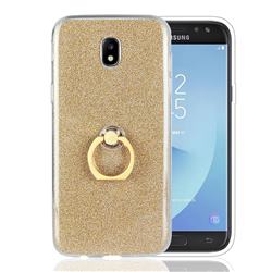 Luxury Soft TPU Glitter Back Ring Cover with 360 Rotate Finger Holder Buckle for Samsung Galaxy J5 2017 J530 Eurasian - Golden