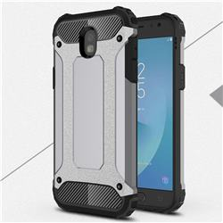King Kong Armor Premium Shockproof Dual Layer Rugged Hard Cover for Samsung Galaxy J5 2017 J530 Eurasian - Silver Grey