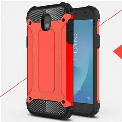 King Kong Armor Premium Shockproof Dual Layer Rugged Hard Cover for Samsung Galaxy J5 2017 J530 Eurasian - Big Red