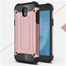 King Kong Armor Premium Shockproof Dual Layer Rugged Hard Cover for Samsung Galaxy J5 2017 J530 Eurasian - Rose Gold