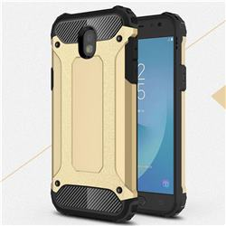 King Kong Armor Premium Shockproof Dual Layer Rugged Hard Cover for Samsung Galaxy J5 2017 J530 Eurasian - Champagne Gold