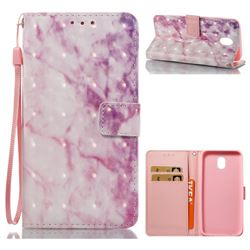 Pink Marble 3D Painted Leather Wallet Case for Samsung Galaxy J5 2017 J530