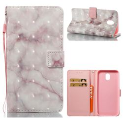 Beige Marble 3D Painted Leather Wallet Case for Samsung Galaxy J5 2017 J530