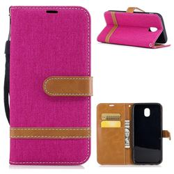 Jeans Cowboy Denim Leather Wallet Case for Samsung Galaxy J5 2017 J530 - Rose