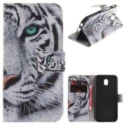 White Tiger PU Leather Wallet Case for Samsung Galaxy J5 2017 J530 Eurasian