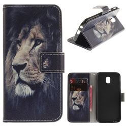 Lion Face PU Leather Wallet Case for Samsung Galaxy J5 2017 J530 Eurasian