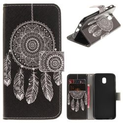 Black Wind Chimes PU Leather Wallet Case for Samsung Galaxy J5 2017 J530 Eurasian