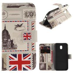 London Envelope PU Leather Wallet Case for Samsung Galaxy J5 2017 J530 Eurasian