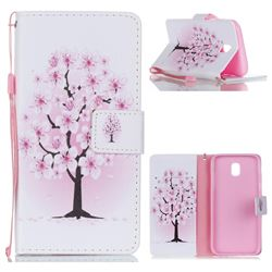 Peach Flower Leather Wallet Phone Case for Samsung Galaxy J5 2017 J530 Eurasian