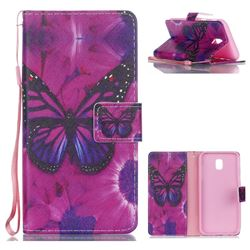 Black Butterfly Leather Wallet Phone Case for Samsung Galaxy J5 2017 J530 Eurasian