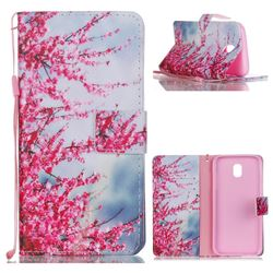 Plum Flower Leather Wallet Phone Case for Samsung Galaxy J5 2017 J530 Eurasian